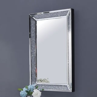 Furniture of America Anneka Jeweled Wall Mirror - Silver