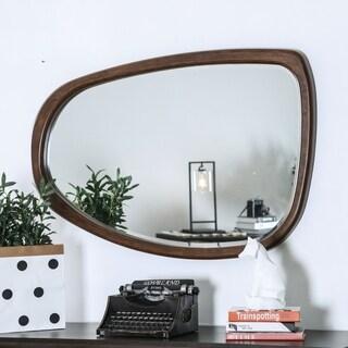 Furniture of America Montana Dark Oak Wall Mirror - Dark oak