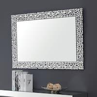 Furniture of America Aurora I Rectangular Wall Mirror - Silver