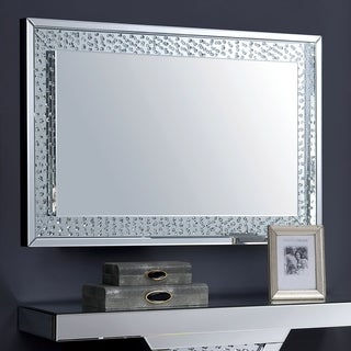 Furniture of America Annalise Glam Wall Mirror - Silver
