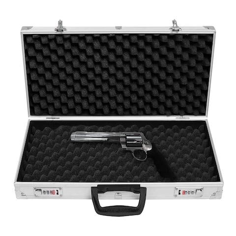 Aluminum Locking Gun Pistol Lock Box Hard Storage Carry Case
