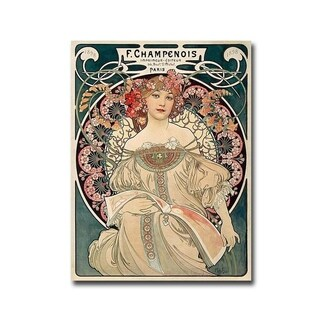 F. Champenois Imprimeur Editeur by Alphonse Mucha Gallery Wrapped Canvas Giclee Art (32 in x 24 in, Ready to Hang)