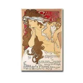 Salon des Cent 20th Exhibition by Alphonse Mucha Gallery Wrapped Canvas Giclee Art (36 in x 24 in, Ready to Hang)