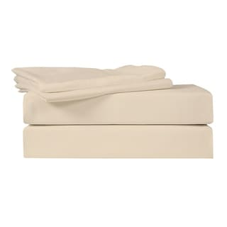 Just Linen 540 Thread Count 100% Egyptian Quality Cotton Sateen, Solid Bedding Bed Sheet Set with Deep Pocketed Fitted Sheets