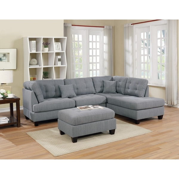 Shop Vaduz 3 Piece Sectional Sofa In Polyfiber With Free
