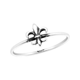 Handmade Everyday Mini Fleur de Lis Sterling Silver Ring (Thailand)