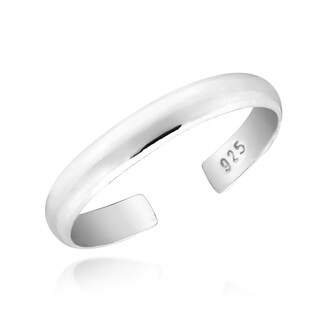 Handmade Simple & Trendy 3mm Band of Sterling Silver Toe or Pinky Ring (Thailand)