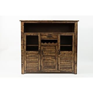 Wooden Wine Cabinet With Spacious Storage, Brown
