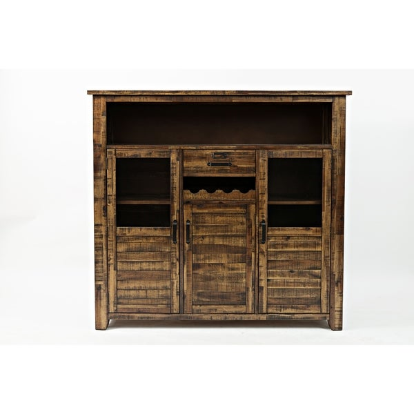 Wooden Wine Cabinet With Ious Storage Brown