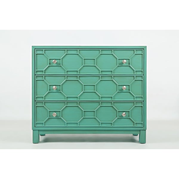Wooden Accent Chest With 3 Ious Drawers Turquoise Green On Free Shipping Today 23503607