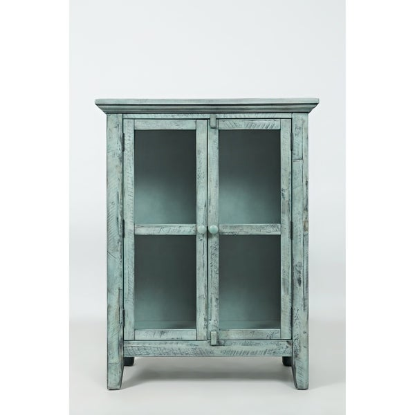 Shop Wood Accent Cabinet With 2 Doors In Distressed Finish