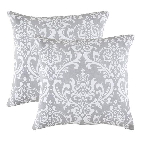 Pure Cotton Decorative Cushion Cover Silver Grey