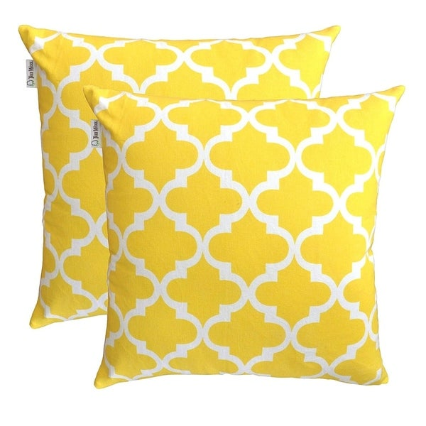 Pure Cotton Decorative Cushion Cover Yellow