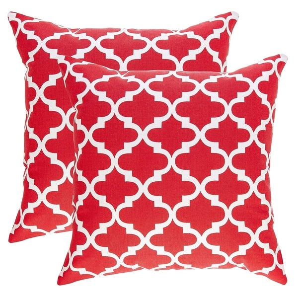 Pure Cotton Decorative Cushion Cover Red