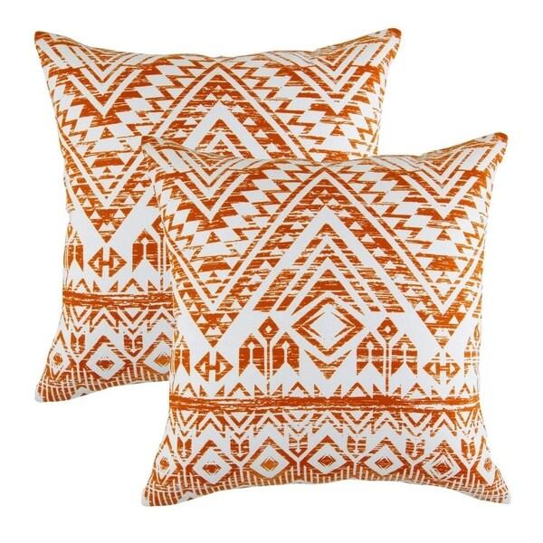 French Accent Pure Cotton Decorative Cushion Cover Orange