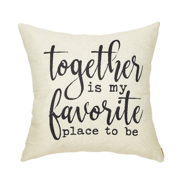 Throw Pillow Case Cushion Cover with Words