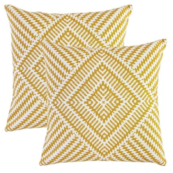 Pure Cotton Decorative Cushion Cover Mustard