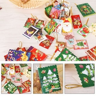 10PCS/Bag Unique Christmas Greeting Cards Colorful Pattern Christmas Card - multi-color mixed
