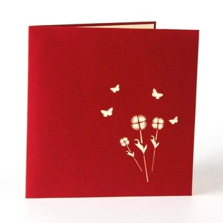 20pcs Thanksgiving Day Greeting Card 3D Sunflower Festival Card Flower Greeting Card