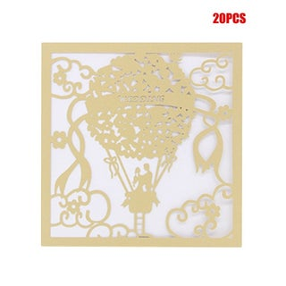 20PCS/SET Beautiful Hollow Out Lace Engagement Wedding Party Invitation Cards