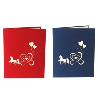 20pcs 3D Pop Up Horse Carriage Shape Party Wedding Invitation Greeting Cards