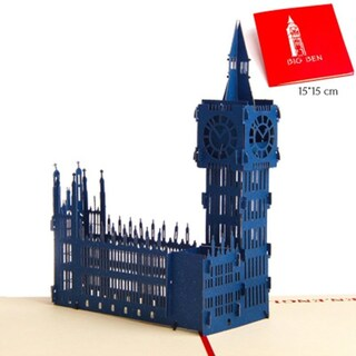 20pcs Big Ben 3D Hollow Carved Postcard Pop Up Greeting Cards For All Occasions