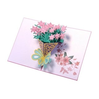 20pcs 3D Pop Up Narcissus Cards Hollow Carved Pop Up Birthday Cards Craft Paper