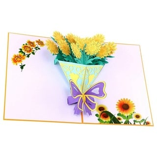 20pcs 3D Pop up Card Sunflower Bouquet Card Handmade Greeting Cards for Valentines