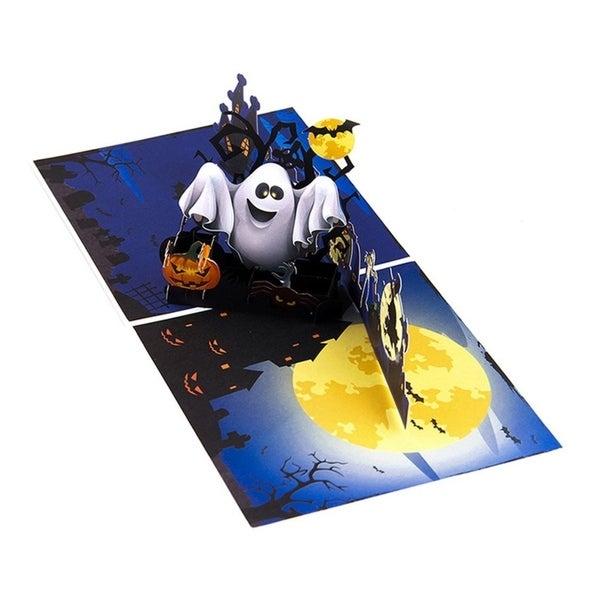 Halloween Pop Up Cards Templates.Shop 20pcs Halloween Pop Up Card Pumkin Ghost 3d Hollow