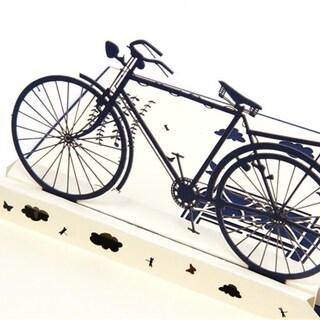 30pcs 3D Retro Bicycle Pop up Graduation Cards Blessing Cards DIY Papercraft Card