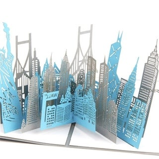 20pcs Greeting Card Greeting 3D Paper-cut York City Souvenirs