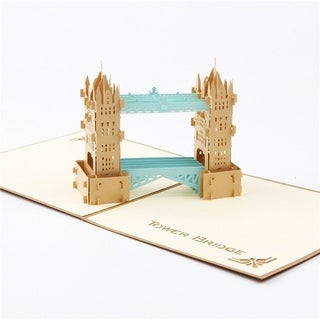 20pcs Greeting Card Greeting 3D Paper-cut British Thames Bridge