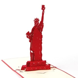 30pcs Greeting Card Music Greeting 3D Postcard Statue of Liberty