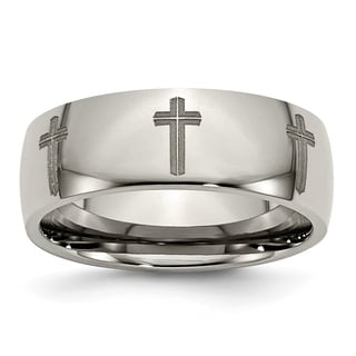 Titanium 8mm Polished Band