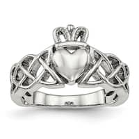 Stainless Steel Polished Claddagh Ring