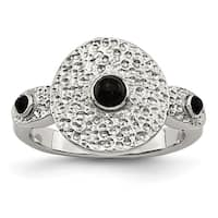 Chisel Stainless Steel Polished and Textured Black Onyx Ring - china