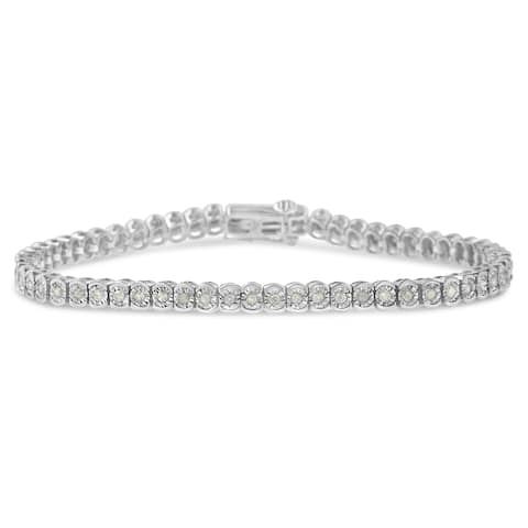 Sterling Silver 1ct TDW Diamond Tennis Bracelet (I-J, I2-I3)