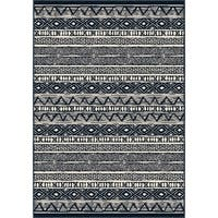 Orian Rugs Farmhouse  Indoor/Outdoor Bamba Indigo  Rug - 7'9 x 10'10