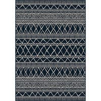 Orian Rugs Farmhouse  Indoor/Outdoor Grand Turk Catalina Blue  Rug - 7'9 x 10'10