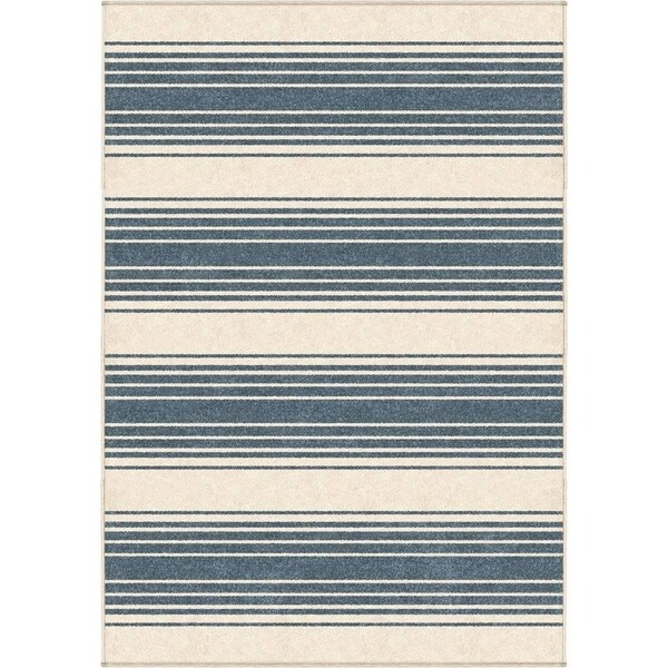 Shop Orian Rugs Farmhouse Indoor Outdoor Simple Stripe Light Blue