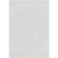 "Orian Rugs Farmhouse  Indoor/Outdoor Mandala Natural  Rug - 5'2"" x 7'6"""