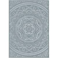 "Orian Rugs Farmhouse  Indoor/Outdoor Mandala Harbor Blue  Rug - 5'2"" x 7'6"""