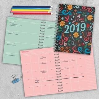 2019 Chalk Medium Weekly Monthly Planner