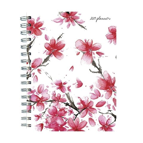 2019 Cherry Blossoms Medium Weekly Monthly Planner
