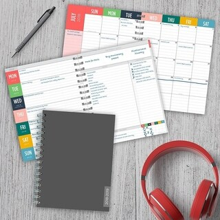 2019 Charcoal Medium Weekly Monthly Planner