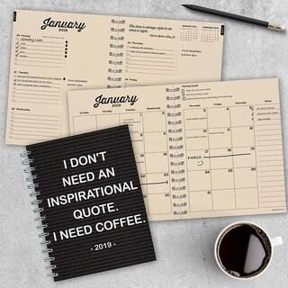 2019 Need Coffee Medium Weekly Monthly Planner