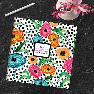 2019 Blooming Dots Large Monthly Planner