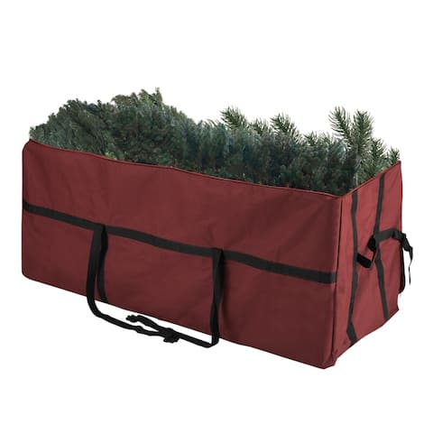 Elf Stor Heavy Duty Canvas Christmas Tree Storage Bag 7.5' Tree