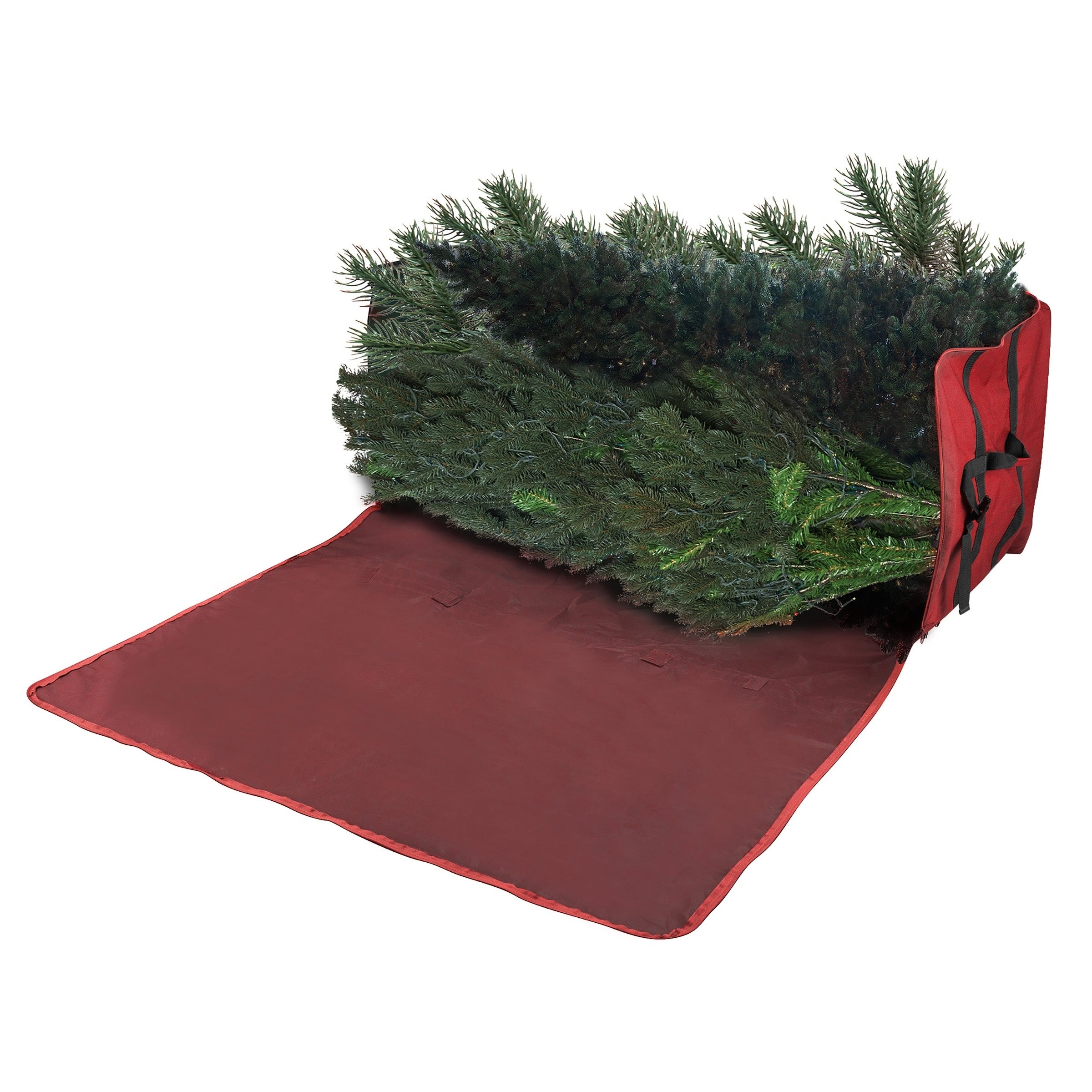 Christmas Tree Storage Bag.Elf Stor Heavy Duty Canvas Christmas Tree Storage Bag 7 5 Tree