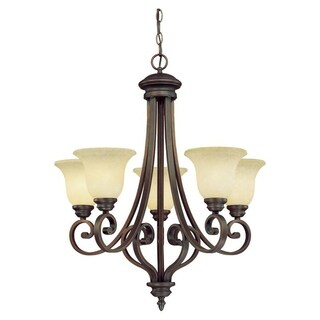Millennium Lighting Oxford Bronze Glass/Steel Chandelier